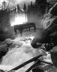 Piano with Waterfall