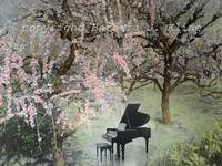 Piano / Japanese Cherry Blossoms
